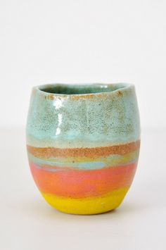 Shino Takeda Tea Cup - handmade ceramics from New York - www.koromiko.com