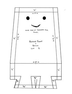 Sewing Pattern for an Adipose plushie. Cause everyone wants one right.........?