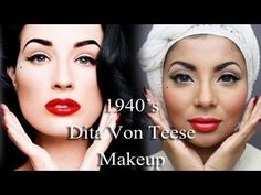 Get a '40s look inspired by Dita Von Teese.
