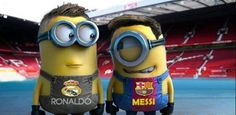 Minion Messi and Ronaldo! Messi Vs Cristiano Ronaldo, Cr Ronaldo, Messi And Neymar, Messi 10, Best Football Players, Football Is Life, Soccer Players, Soccer Teams, Soccer Stuff