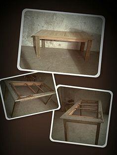 Mesa em madeira de demolição. #demolição #madeiravelha # movelantigo