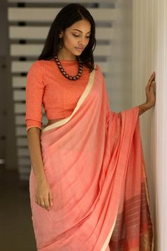 Cherry Crimson Saree from FashionMarket.lk