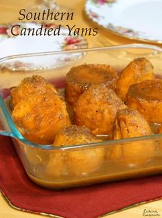 This recipe for orange and spice glazed Southern Candied Yams offers a wonderful alternative to traditional, marshmallow topped, sweet potato casserole. Southern Candied Yams, Candied Sweet Potatoes, Sweet Potato Dishes, Sweet Potato Casserole, Orange Recipes, Fall Recipes, Vegetable Side Dishes, Vegetable Recipes, Canned Yams
