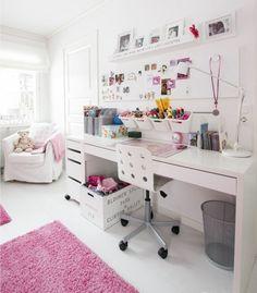 Белая детская мебель Икеа в интерьере
