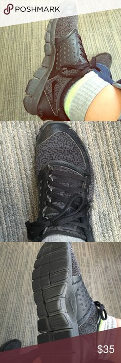 Nikes black leopard print Good condition! Do show some wear! But still very cute! I love these shoes but I need something new with more color Nike Shoes Sneakers