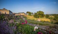 This incredible picture of the view of Shilstone from the walled garden shows the flowers in full bloom! summer in Devon is truly beautiful!!