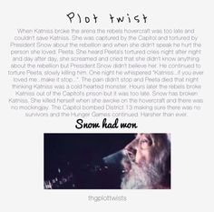 AND THEN imagine haymitch being really sad because he didn't tell either of them the plan and commiting suicide right before the bombs.
