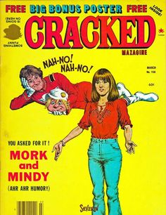 Bronze Age (1970-83) Useful 1979 Cracked Collectors Edition Mork From Ork Magazine Two Page Mork Poster New Varieties Are Introduced One After Another