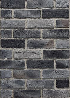 China Handmade Culture Brick Grey Color, Find details about China Culture Brick, Handmade Brick from Handmade Culture Brick Grey Color - Leiyuan Building Material Co. Painted Brick Exteriors, Painted Brick Walls, Faux Brick, Brick And Stone, Grey Brick Houses, Black Brick Wall, Exterior House Colors, Grey Exterior, Brick Material