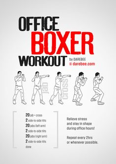 Office Boxer workout.