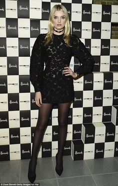 Gorgeous: Lily Donaldson surpassed herself when she attended an art bash in London on Sunday evening