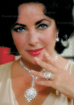 Elizabeth taylor fashion icon pinterest wearing purple liz taylor love her diamonds week 3 day 2 diamonds are forever by malvernweather Choice Image
