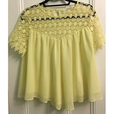 Yellow Yoke Top Yellow yoke style top size M/L. Goes perfect with white jeans for the summer Tops Blouses
