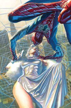Amazing Spider-Man # 26 - Marvel Comics - Cover art by Alex Ross Ms Marvel, Marvel Heroes, Marvel Characters, Captain Marvel, Amazing Spiderman, Art Spiderman, Alex Ross, Arte Dc Comics, Marvel Comics Art