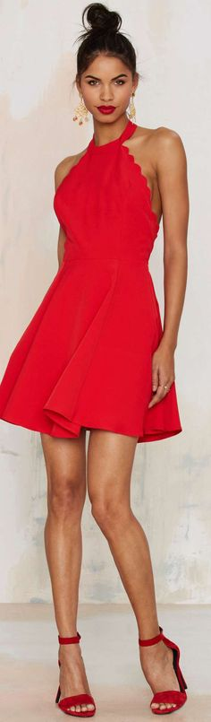 Red Party Dress  women fashion outfit clothing style apparel @roressclothes closet ideas