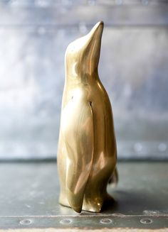 Brass Penguin / ReneeVintage  This would totally go with my brass animal collection :)