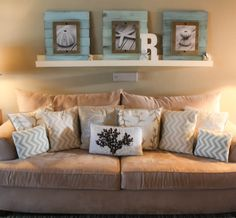 Custom Coastal/Beach Distressed picture frames and photo. Completely Customizable. on Etsy, $120.00
