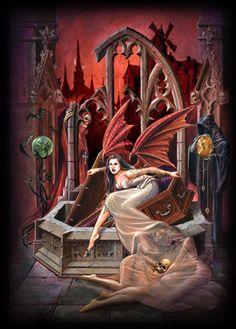 All Hallows Eve - Alchemy Gothic art Vampire Bride, Alchemy Art, Ange Demon, Creepy Pictures, Goth Art, Angel Of Death, Grim Reaper, Dark Art, Fantasy Art