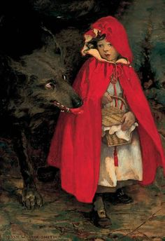 "1911 From ""Little Red Riding Hood"" by Jessie Willcox Smith"