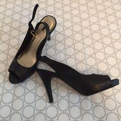Black fioni heels Size 6.5. Excellent shape FIONI Clothing Shoes Heels