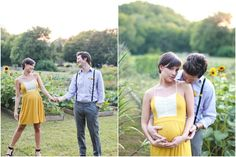 This Farm Maternity Session is filled with sunflowers and outdoor beauty. Maternity Session, Maternity Pictures, Maternity Photography, Couple Photography, Sunflower Field Photography, Baby Belly, Sunflower Fields, Engagement Couple, Sunflowers