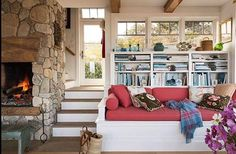 20 Staircase Storage Ideas to Help You Make the Most of Every Inch, . 20 Staircase Storage Ideas to Help You Make the Most of Every Inch, Built In Sofa, Built In Bookcase, Bookcases, Built Ins, Staircase Storage, Bohostyle, Casual Dining Rooms, Home Decoracion, Decoration