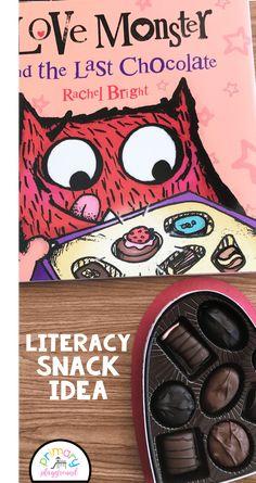 Literacy Snack Idea Monster + Free Printable