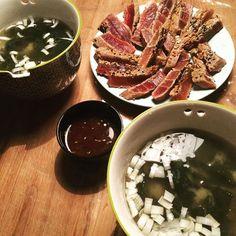 #Miso Soup & #Tataki #yummy by paureysan