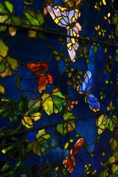 Butterflies and Foliage, John LaFarge