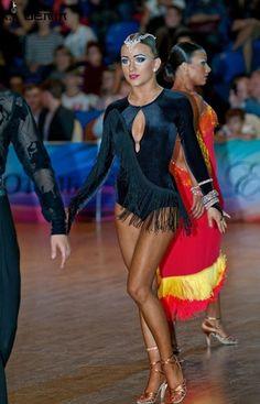 Black Velvet Latin Dress  SELAVIDANCE.COM     048DBER24