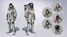 "ArtStation - Spacesuit Full, Jose Afonso ""eSkwaad"""