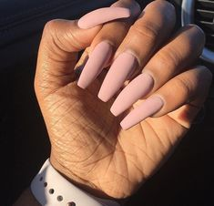 In look for some nail designs and ideas for the nails? Here's our list of 27 must-try coffin acrylic nails for fashionable women. Perfect Nails, Gorgeous Nails, Pretty Nails, Fabulous Nails, Aycrlic Nails, Dope Nails, Coffin Nails, Matte Pink Nails, Blush Nails