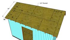 This step by step diy article is about how to build a roof for a shed. Building a roof for a large shed is easy, if you use proper plans and techniques. Build A Shed Kit, Diy Shed Kits, Shed Plans 12x16, Wood Shed Plans, Cabin Plans, Building A Shed Roof, Building Ideas, Roof Truss Design, Clutter Solutions