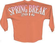 Spring break 2016 pink pom print J america shirt