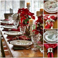 Another beautiful tablescape from Pat and wonderful Farmhouse Christmas tour.