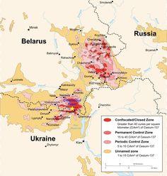 Chernobyl radiation map