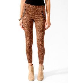 Leopard Print Skinny Pants | FOREVER21 - 2016119733