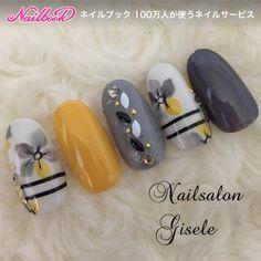 New Nails Yellow Grey Gray Ideas Autumn Nails, Spring Nails, Gray Nails, Pastel Nails, Japanese Nail Art, Manicure E Pedicure, Pretty Nail Art, Super Nails, Fancy Nails