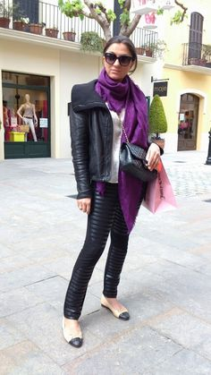 Look Of The Day - Black Leather 2013