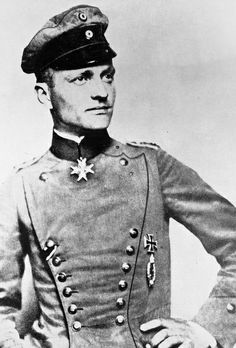 "May 2, 1892: Birth of Manfred Albrecht Freiherr von Richthofen, also known as the Red Baron, WWI German pilot and still regarded today as the ""ace of aces."" He was a very successful fighter pilot, military leader and flying ace who won 80 air combats during World War I."