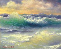 571 Atlantic Waters 11x 14 Gallery Wrap by vladimirmesheryakov, $39.99