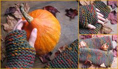 hand warmers in autumnal colours