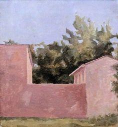 Paysage. La Maison Rose. 1925 - GIORGIO MORANDI 1890-1964 #TuscanyAgriturismoGiratola