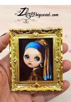Image of Miniature painting print: 'Girl with the pearl earring' Painting Prints, Fine Art Prints, The Birth Of Venus, Up Game, Limited Edition Prints, Leaf Prints, Kite, Vibrant Colors, Original Paintings