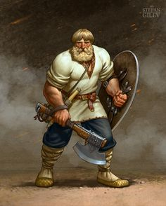 ArtStation - The fighter of Mikula., Stepan Gilev