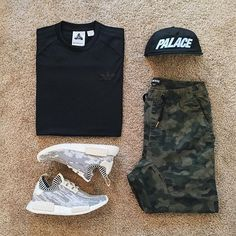 ** Streetwear daily - - - Click this picture to check out our clothing label ** Grid für Frauen ** Streetwear daily - Men Fashion Show, Dope Fashion, Mens Fashion, Fashion Shoes, Swag Outfits, Cool Outfits, Casual Outfits, Nmd Outfits, Style Streetwear