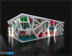 Calesita Brinquedos Stand Design, 3d Design, Exhibition Booth Design, Exhibition Stands, 3d Studio, Cube, Retail, Inspirational, Space
