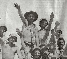"""Named the """"Desert Rats"""" by the Germans, the mostly Australian, but also other Commonwealth soldiers, """"Salute"""" after their victory at Tobruk"""