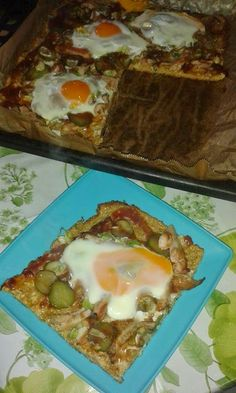 Cristina's world: Pizza - dukan style Dukan Diet, Pizza, Ketchup, I Foods, Gluten, Low Calories, Eggs, Cooking Recipes, Breakfast