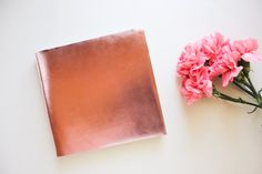 LUX Metallic Leather Guest Book by AlternativeJournals on Etsy, $70.00